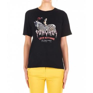 T-shirt Pinko X Lucia Heffernan nero