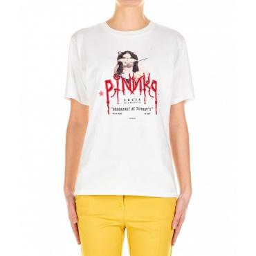 T-shirt Pinko X Lucia Heffernan bianco
