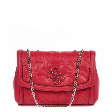 Piccola borsa a tracolla trapuntata rosso