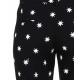 Pantalone cropped con stampa stelline nero