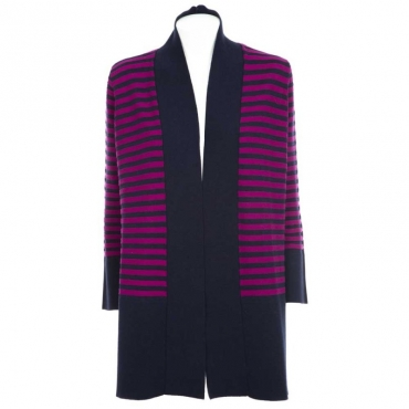Cardigan oversize a righe BIC1