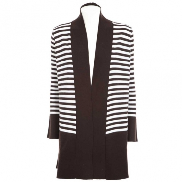 Cardigan oversize a righe BIC4
