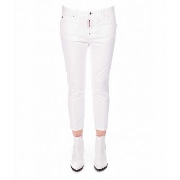 Cool Girl Cropped Jean bianco