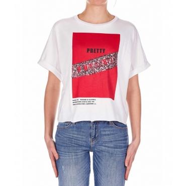 T-shirt oversized e cropped bianco