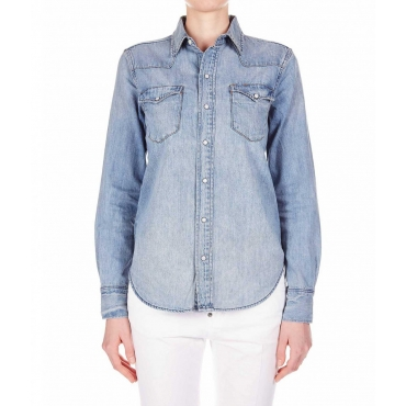 Camicia in denim azzurro
