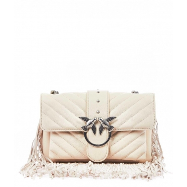 Mini Love Bag Soft Fringes bianco