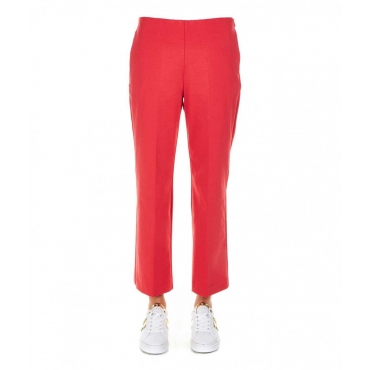 Pantalone flared rosso