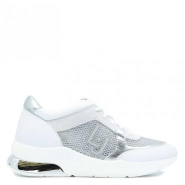 Sneakers Karlie 12 con logo glitter 01111WHITE