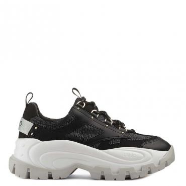 Sneakers Wave 01 in tinta unita 22222BLACK