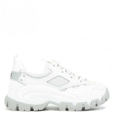 Sneakers Wave 01 in tinta unita 01111WHITE