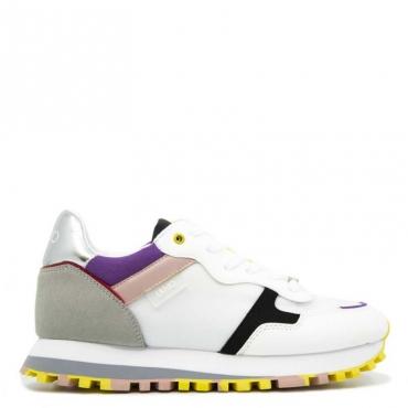 Sneakers Wonder 20 in microfibra 01111WHITE