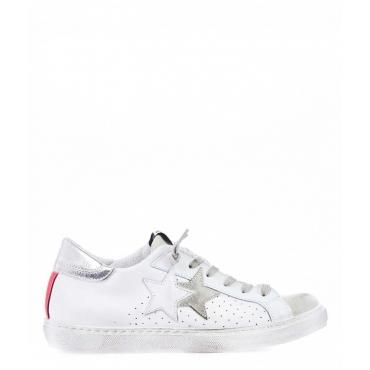 Sneaker in pelle bianco