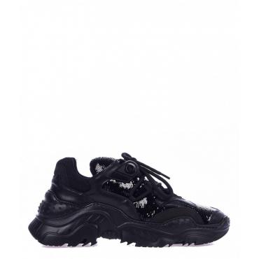 Chunky sneaker con lustrini nero