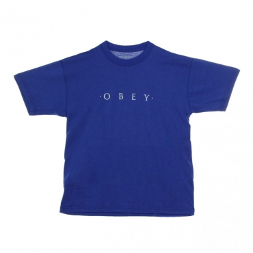 MAGLIETTA NOVEL OBEY SUSTAINABLE TEE ROYAL BLUE