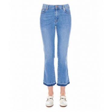 Cropped Boot Jean azzurro