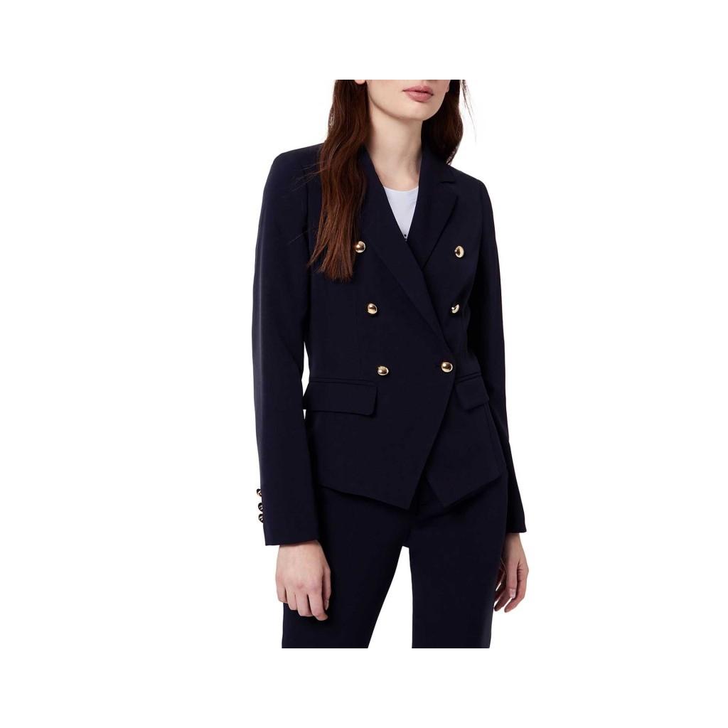 la giacca in genere blu con ibottoni dorati