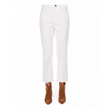 Felicity Mom Bootcut Jeans bianco