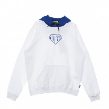 FELPA CAPPUCCIO LOGO HOODIE WHITE/BLUE