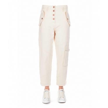 Pantaloni cargo Di Blasi beige
