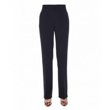Pantaloni con pieghe in vita nero