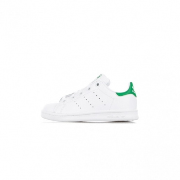 SCARPA BASSA STAN SMITH C WHITE/WHITE/COLLEGIATE GREEN