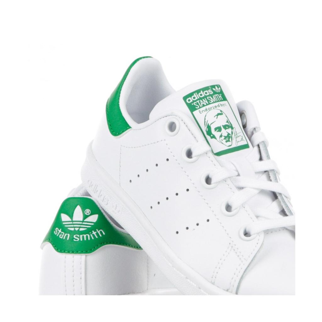 SCARPA BASSA STAN SMITH C WHITE/WHITE/COLLEGIATE GREEN