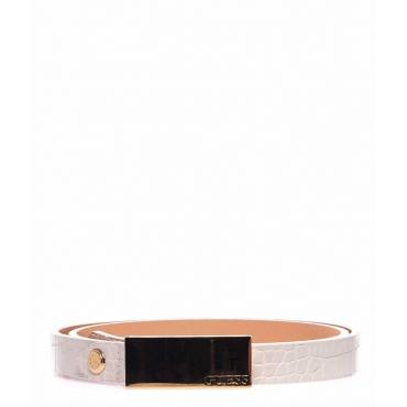 Cintura con dettagli metallici rosa chiaro