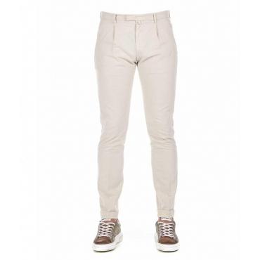 Pantalone Chino con stampa beige
