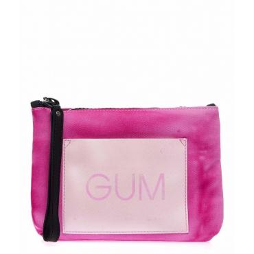 Clutch mit Logo Pink