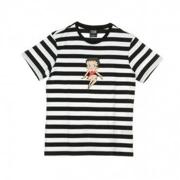MAGLIETTA STRIPE BETTY BOOP BLACK