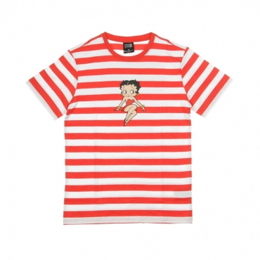 MAGLIETTA STRIPE BETTY BOOP RED