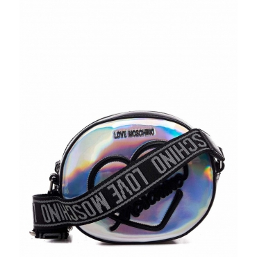 Borsa a tracolla Hologram argento