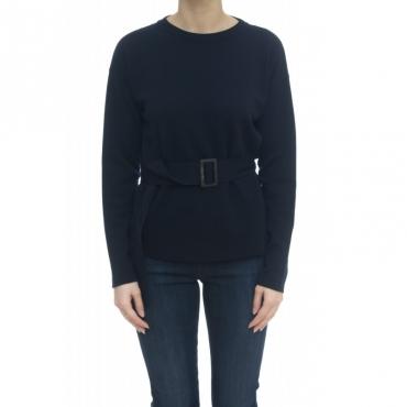 Maglieria - J1022 maglia merinos cintura 1525 - Blu