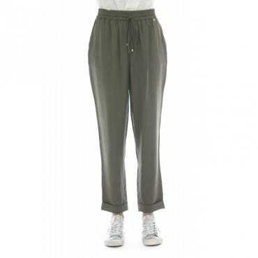 Pantalone donna - Biem pantalone banda 52013 - Salvia