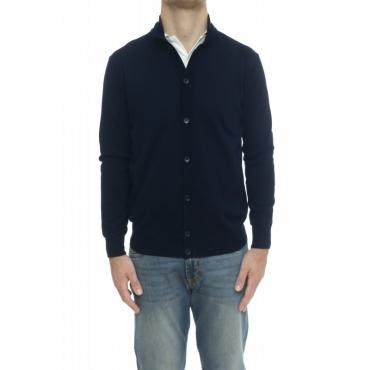 Maglia uomo - 9011/56 maglia bottoni 38 - Blu