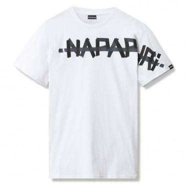 T-shirt  con logo centrale BRIGHTWHITE