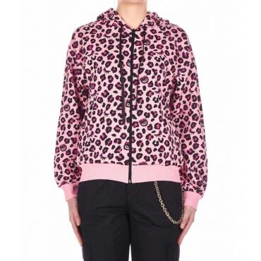 Sweatshirt Leopard rosa