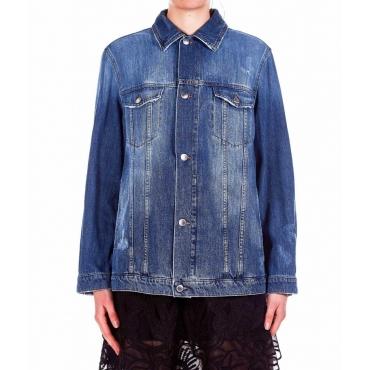 Giacca in Jeans plissetata blu
