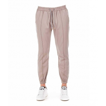 Jogger-Style Chinos beige