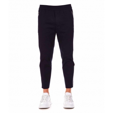 Jogger-Style Chinos blu scuro