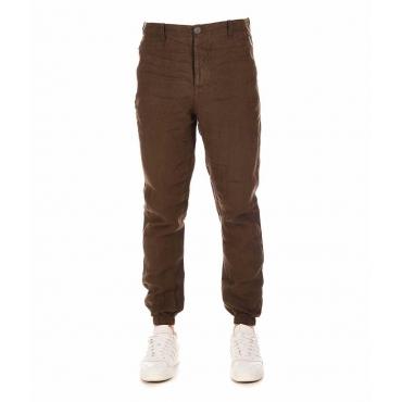 Pantaloni di lino khaki