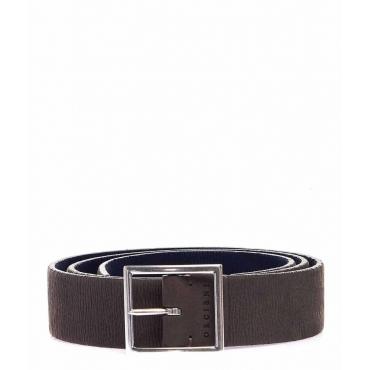 Cintura in pelle grigio