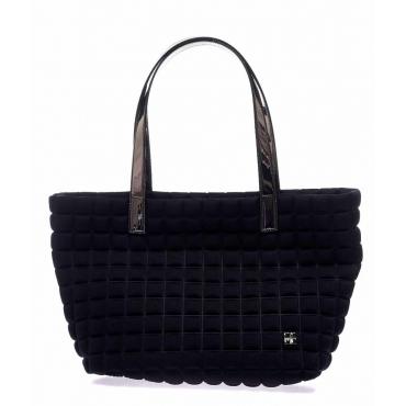 Shopper Small Lami Cube con manici in laminato nero