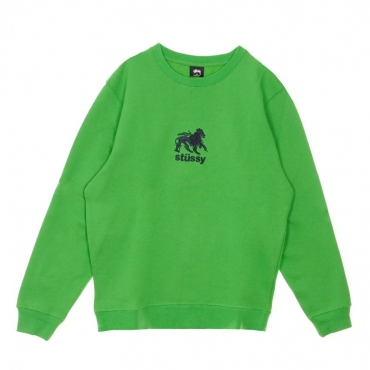 FELPA GIROCOLLO LION APP CREW KELLY GREEN