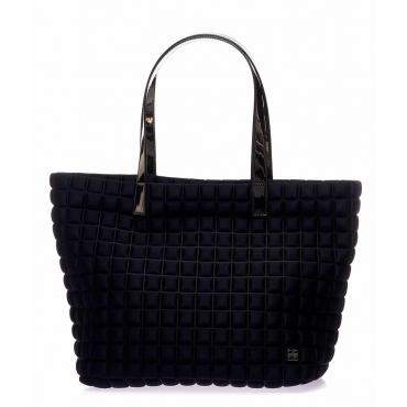Shopper Medium Lami Cube con manici in laminato nero