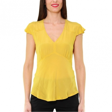TOP IN CREPE DI VISCOSA GIALLO