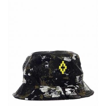 Cappello con stampa camouflage verde scuro
