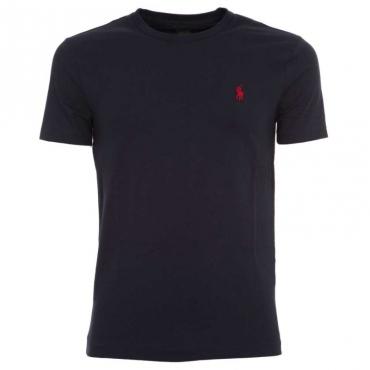 T-Shirt blu navy con logo rosso INK