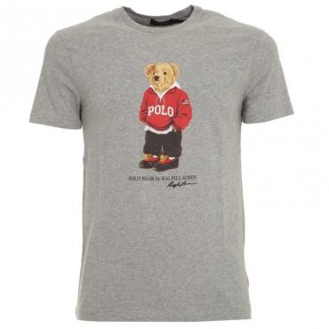 T-Shirt grigia in cotone con orsetto ANDOVERHEATH