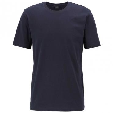 T-shirt slim fit tinta unita 402DARKBLUE